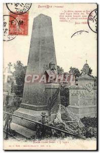 Old Postcard Saint Die Tomb Jules Ferry