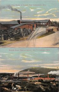 F63/ Newcomerstown Ohio Postcard 1910 2view Pipe Factory Novelty Brick