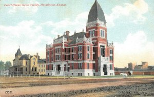 LP09   Hutchinson   Kansas Postcard Court House Reno County
