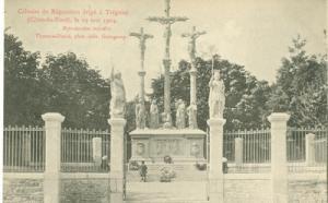 France, Calvaire de Reparation erige a Treguier, le 19 Ma...