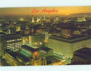 Unused Pre-1980 THE TIMES BUILDING AT NIGHT Los Angeles California CA A3896