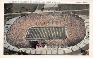 The Stadium, University of Michigan Ann Arbor, Michigan, MI, USA Writing on back