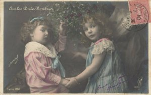 RP: 2 kids with Mistletoe , 1904