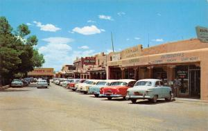 Taos New Mexico~Deckerhoff's Office Suppies~Coronado Pharmacy~1950s Cars~1956 PC