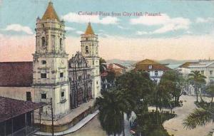 Cathedral Plaza from City Hall, Panama, PU-00-10s