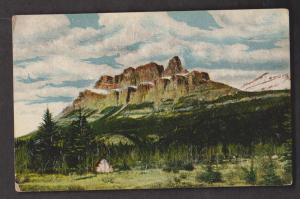 Castle Mountain Near Lake Louise, Alberta - Unused c1915 - Some Wear