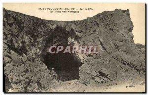 Old Postcard Pouliguen On Cote Cave korrigans