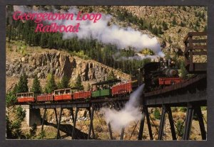 CO Georgetown Loop Train Railroad Silver Plume Colorado Postcard PC RR