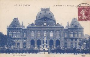France Le Havre La Bourse et le Nouveau Jardin 1926
