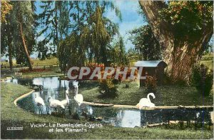 Postcard Moderne Vichy (Allier) Queen of Cities of the water Swan Basin and F...