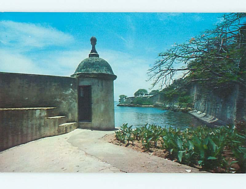 Unused Pre-1980 SENTRY BOX FROM THE OLD CITY San Juan Puerto Rico PR r9762