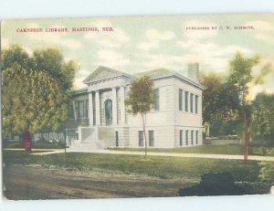 Divided-back LIBRARY SCENE Hastings Nebraska NE AF1733