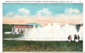 New York Catskills Ashokan Reservoir Aerating The Water Showing The Gate Chamber
