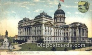 Indianapolis, Indiana, IN State Capital USA 1907 tear and crease bottom edge,...