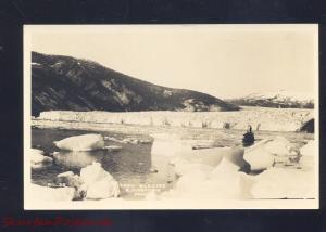 TAKU GLACIER ALASKA E. ANDREWS VINTAGE REAL PHOTO POSTCARD OLD PC