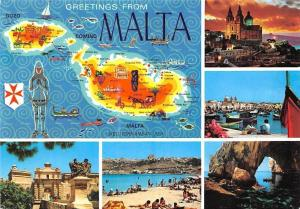 Malta Island Map Boats Bateaux Rock Formation Church Sunset