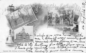 Cortland New York Historic Bldg Multiview Private Mail Antique Postcard K105422