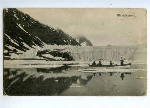 235854 NORWAY Svalbard RUSSIA SPITSBERGEN Men in Boat FISHING