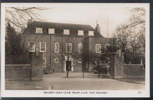 Surrey Postcard - Malden Golf Club, Traps Lane, New Malden   RT4