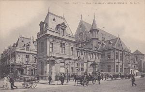 PARIS, France, 1900-1910´s; Rue Reaumur, Arts Et Metiers, Horse Carriages