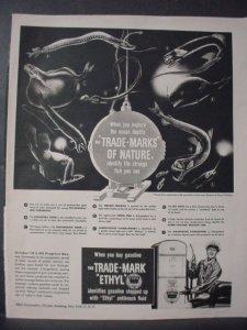 1948 The Trade Mark Ethyl October 14 Oil Progress Day Vintage Print Ad 12711