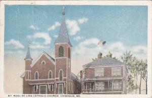 St Rose De Lima Catholic Church, Chisholm, Maine, PU-1919