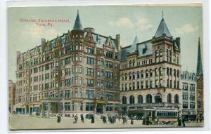 Colonial European Hotel York Pennsylvania 1911 postcard