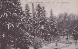 Wisconsin Sinsinawa Winter Scene Saint Clara Academy Artvue