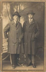 Early 1900s Men In Suits REAL PHOTO 02.71