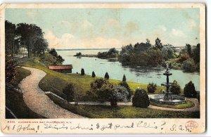 Plattsburgh, NY - CUMBERLAND BAY - 1907 UDB Postcard
