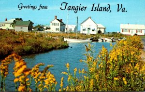 Virginia Greetings From Tangier Island Showing Canal Scene