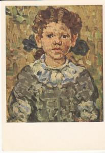 Girl in Blue by Maurice Pendergast  Unused