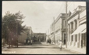Mint Spanish Antilles Real Picture Postcard The Marti Street View