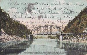 North Carolina Asheville The Deep Water Bridge On The French Broad In the Of ...