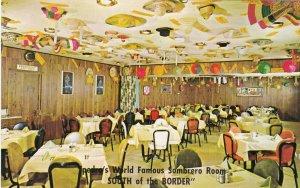 South Carolina South Of The Border Pedro's Restaurant Sombrero Room sk7132
