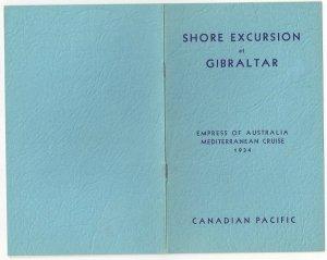 CANADIAN PACIFIC, Empress of Australia, Gibraltar Shore Excursion, 1934