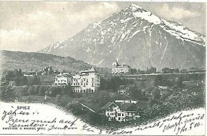 Ansichtskarten Schweiz VINTAGE POSTCARD: SWITZERLAND - SPIEZ 1910
