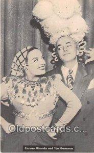 Carmen Miranda & Tom Breneman Movie Actor / Actress Unused