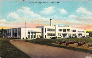 D71/ Dothan Alabama AL Postcard c1940s Dothan High School Building