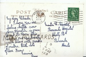 Genealogy Postcard - Woodd - Boscombe Hospital - Shelley Rd - Hants - Ref 8908A