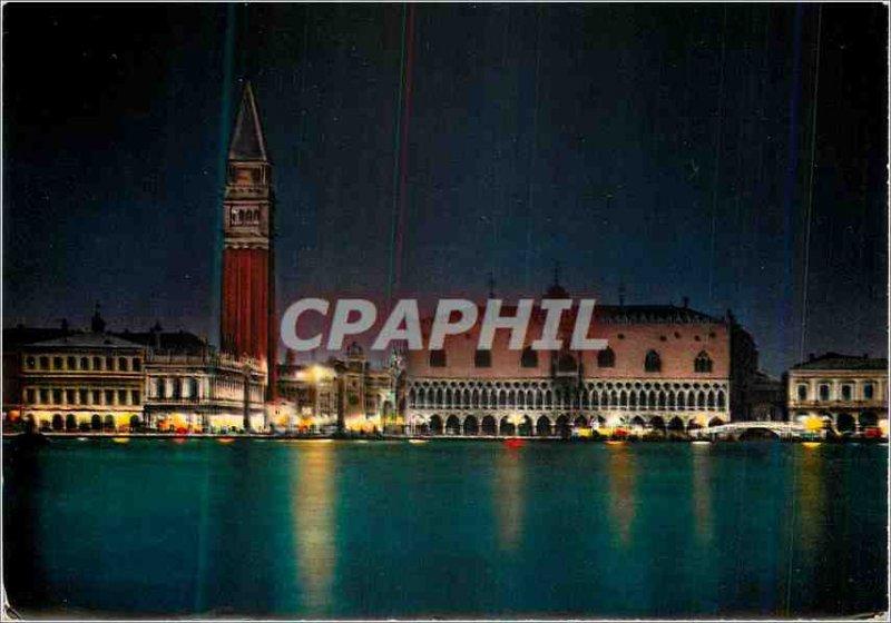 Modern Postcard Venezia Vue Generale Basin St. Mark Night