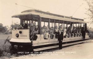 Kennebunkport Maine Seashore Electric Railway Real Photo Antique Postcard K77314