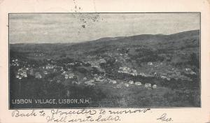 Lisbon Village, Lisbon, New Hampshire, Very Early Postcard, Used in 1906