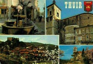 France Thuir Medieval Village Castelnou Fountain Church Eglise Postcard