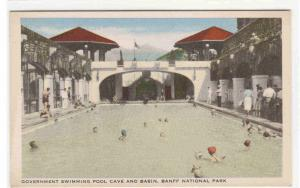 Government Swimming Pool Cave Basin Banff National Park Canada 1949 postcard