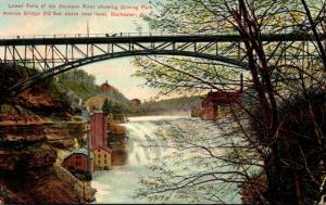 New York Rochester Lower Falls Of Genesee River Showing Driving Park Avenue B...