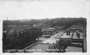 F35/ Anamosa Iowa RPPC Postcard c1910 Birdseye View Stores