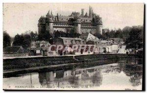 Old Postcard Pierrefonds Chateau Pond and I (West Coast)