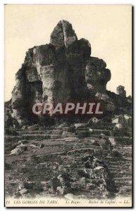 Old Postcard Gorges Du Tarn Le Rozier Rock Capluc