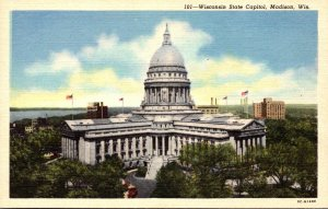 Wisconsin Madison State Capitol Building Curteich